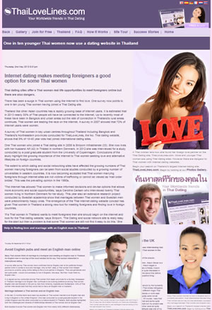 AtlanticThai operates the largest Dating siet in Thailand